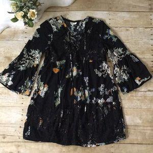 Entro Floral Boho Dress Size Small